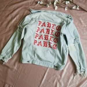 Jackets & Blazers - Pablo distressed and destroyed jacket size L